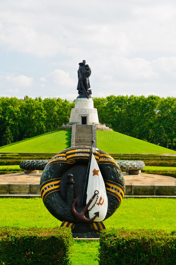 Treptower park memorial, berlin stock image