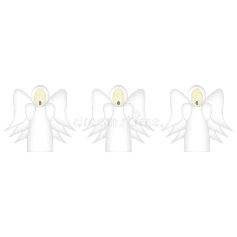 Tres ángeles del canto stock de ilustración