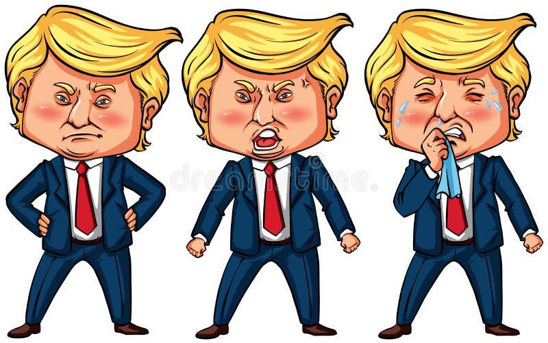 Tres acciones del presidente triunfo de los E.E.U.U. libre illustration