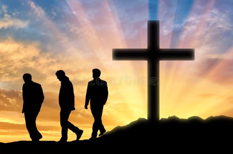 Tres ateos de los hombres fotos de archivo