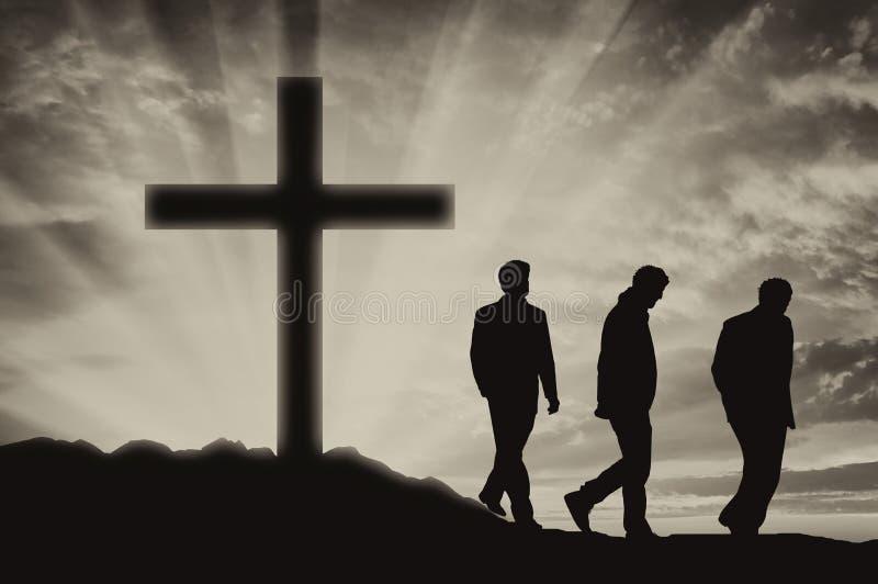 Tres ateos de los hombres foto de archivo libre de regalías