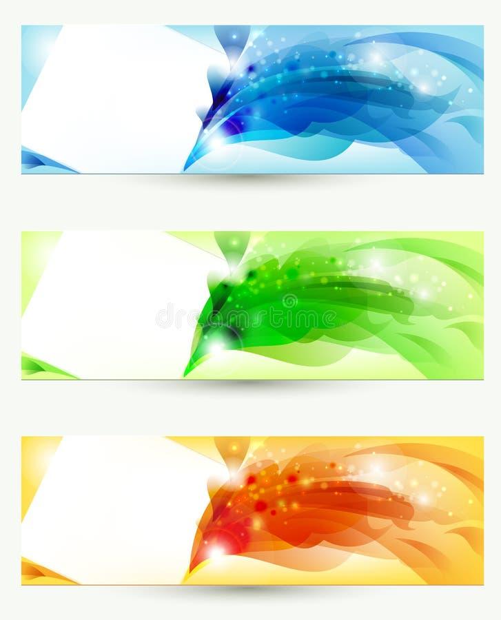 Tres banderas ilustración del vector