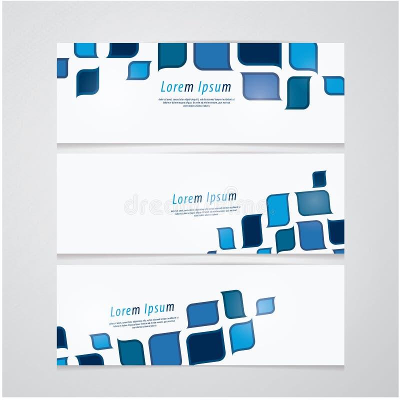 Tres banderas del vector en diseño retro. Mucho espacio para su texto o libre illustration