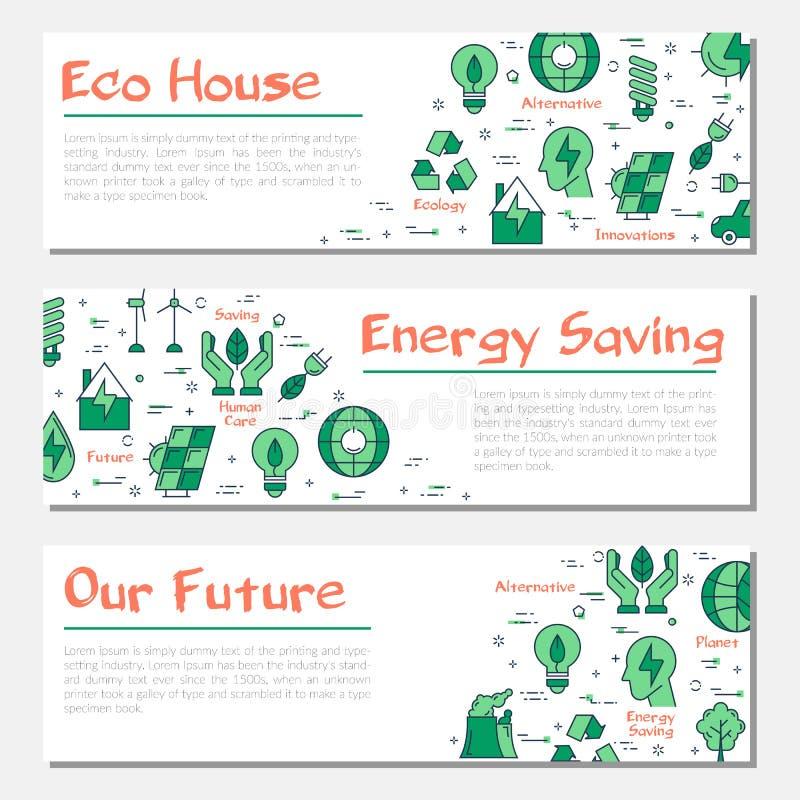 Tres banderas horizontales de la ecología libre illustration