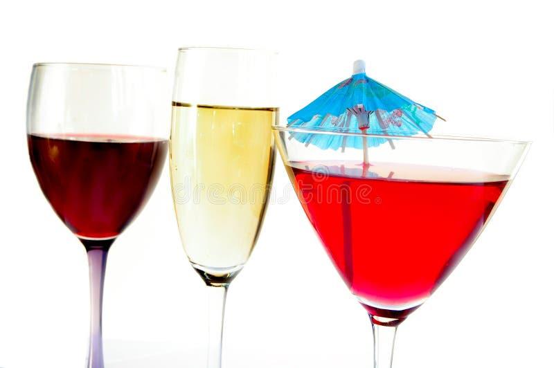 Tres bebidas imagen de archivo libre de regalías