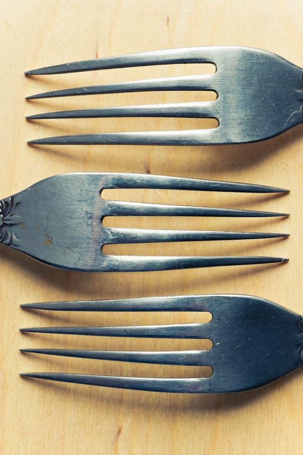 Tres bifurcaciones de la tabla cercanas encima de la visión concepto de la cocina fotografía de archivo libre de regalías