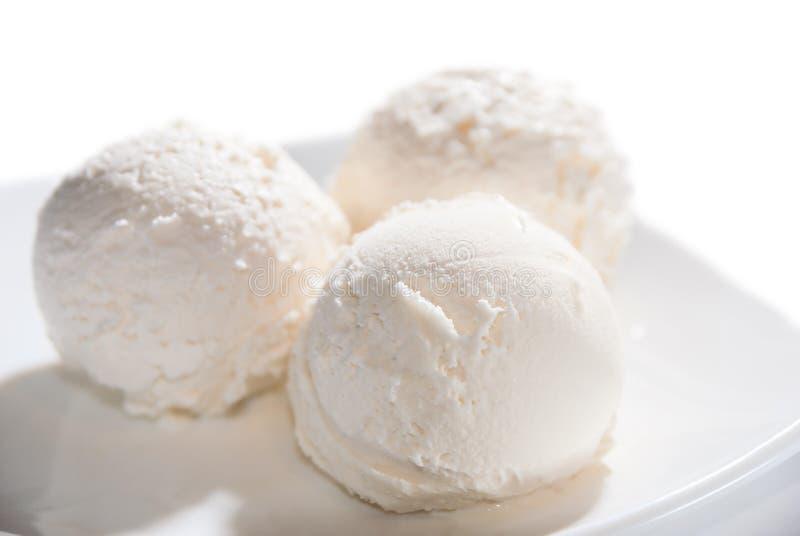 Tres bolas de helado fotos de archivo