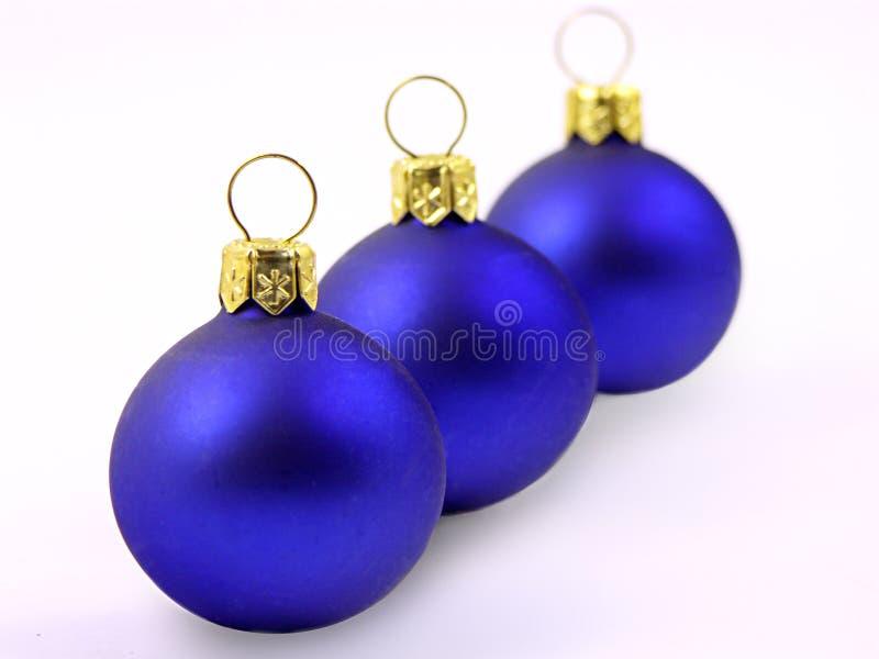 Tres bolas de la Navidad fotos de archivo libres de regalías