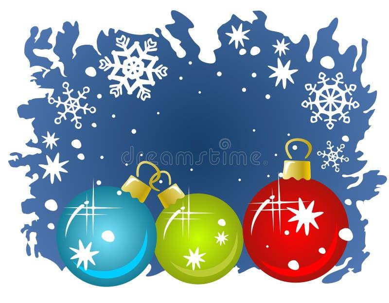 Download Tres bolas de la Navidad ilustración del vector. Ilustración de holiday - 7282910