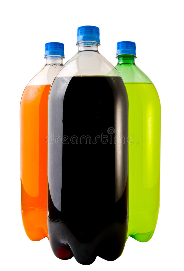 Tres botellas de soda foto de archivo libre de regalías