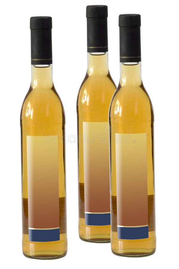 Tres botellas del motivo foto de archivo libre de regalías