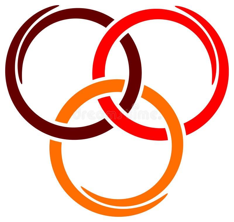Tres círculos ilustración del vector