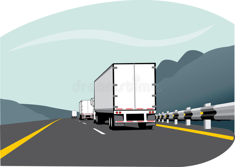Tres carros de acoplado libre illustration