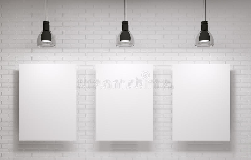 Tres carteles en la pared libre illustration
