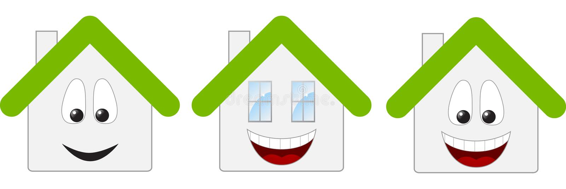 Tres casas libre illustration