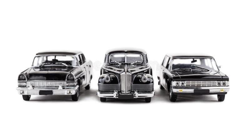 Tres coches del juguete del vintage imagen de archivo libre de regalías
