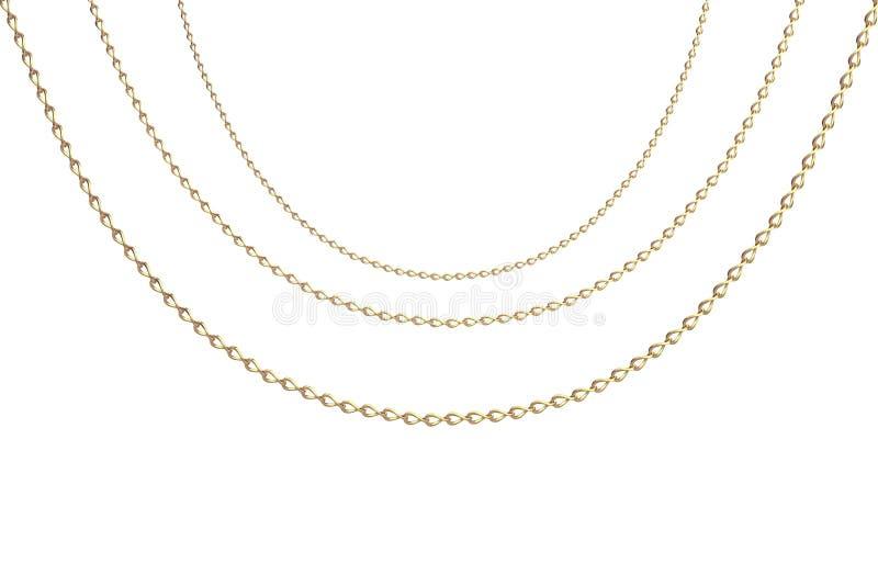 Tres collares del oro ilustración del vector