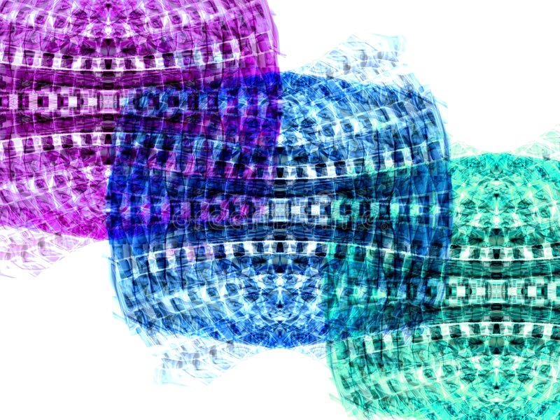 Tres colores stock de ilustración