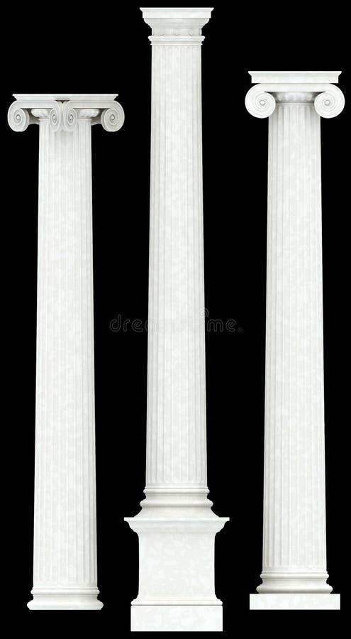 Tres columnas antiguas ilustración del vector