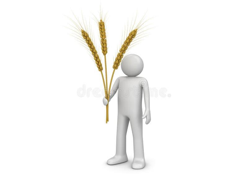 Tres conos - agricultura stock de ilustración