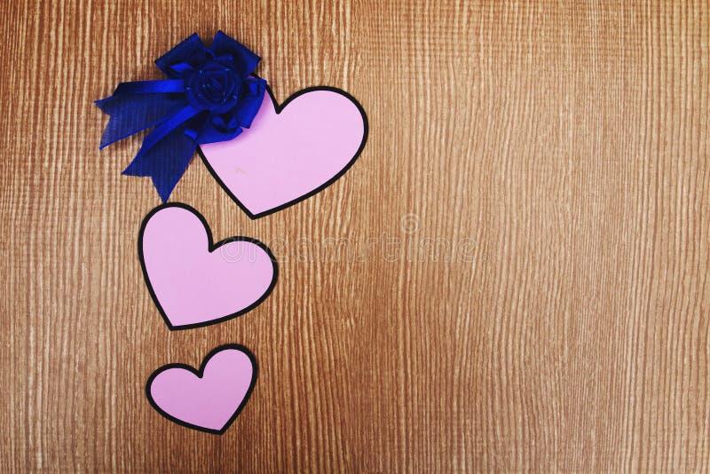 Tres corazón y horquilla rosados foto de archivo libre de regalías