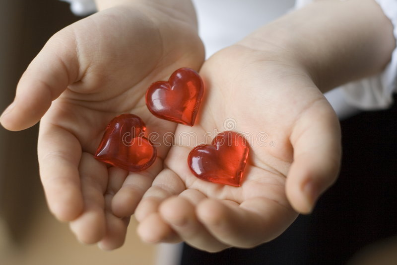 Tres corazones fotos de archivo