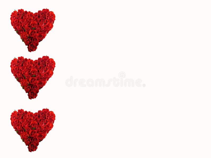 Tres corazones rojos imagen de archivo libre de regalías