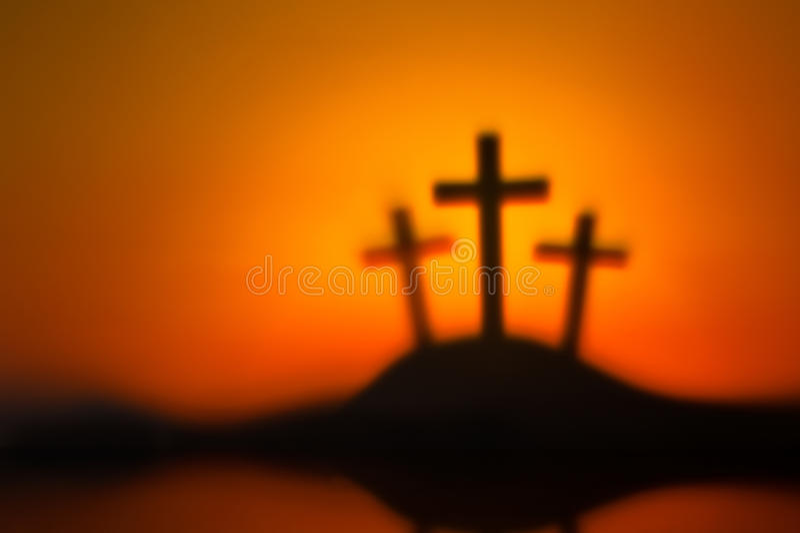 Tres cruces foto de archivo