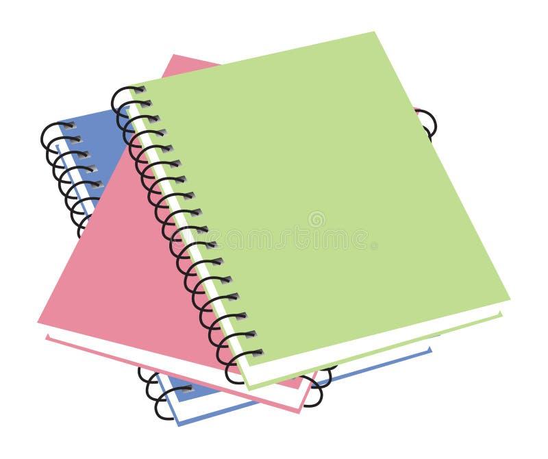 Tres cuadernos imagenes de archivo