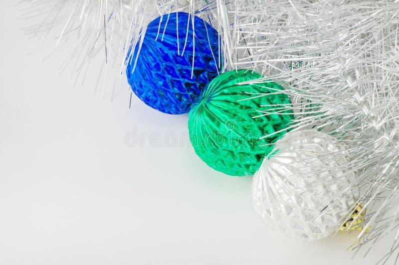 Tres decoraciones de la Navidad fotos de archivo
