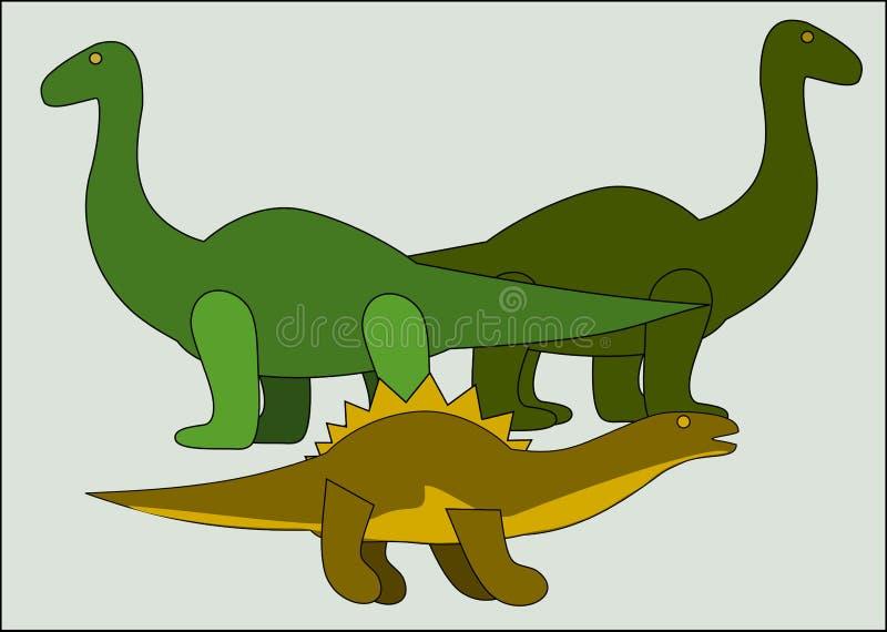 Tres dinosaurios fotografía de archivo