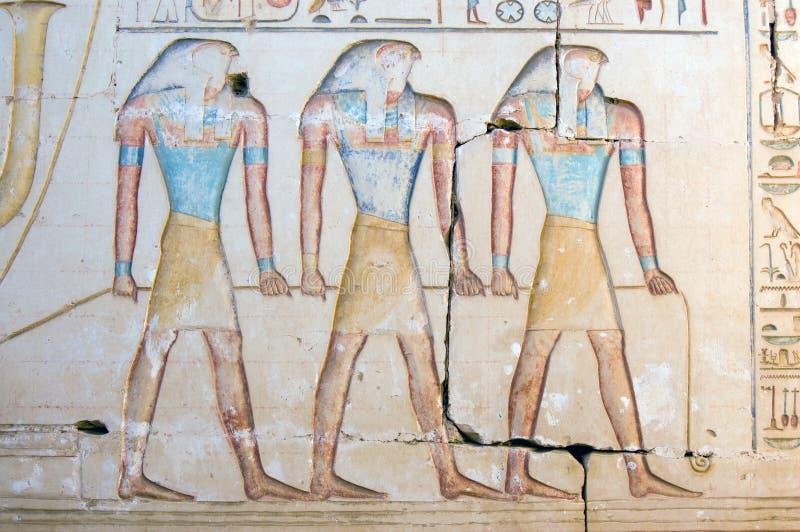 Tres dioses de Horus imagen de archivo libre de regalías