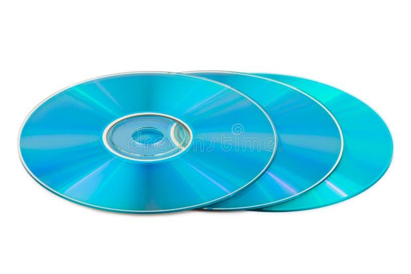 Tres discos del ordenador fotografía de archivo