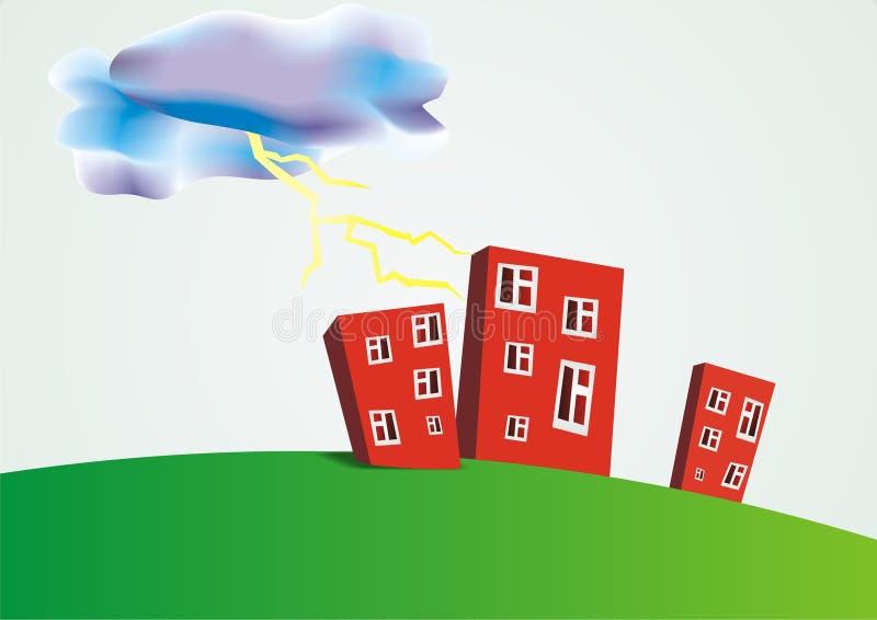Tres edificios libre illustration