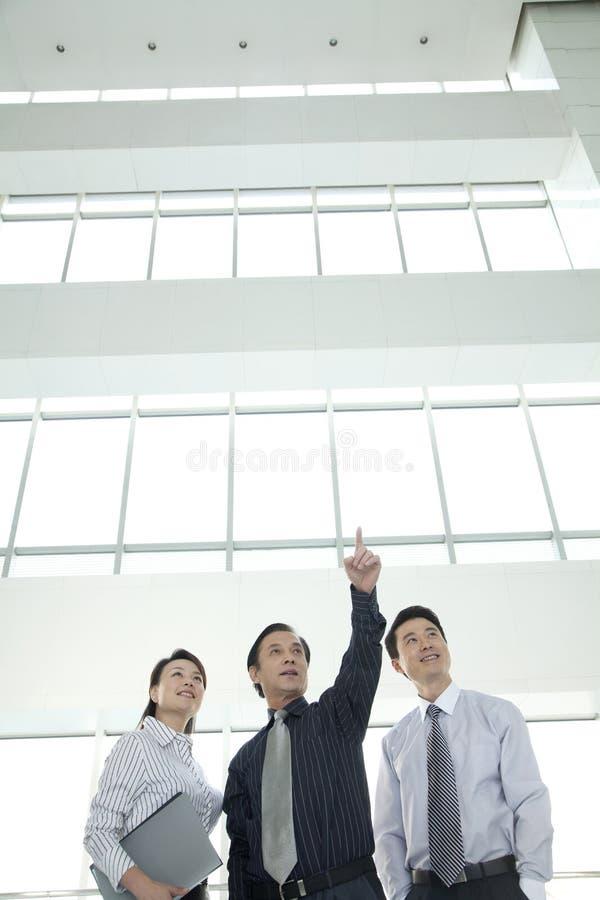Tres empresarios que miran adelante fotografía de archivo