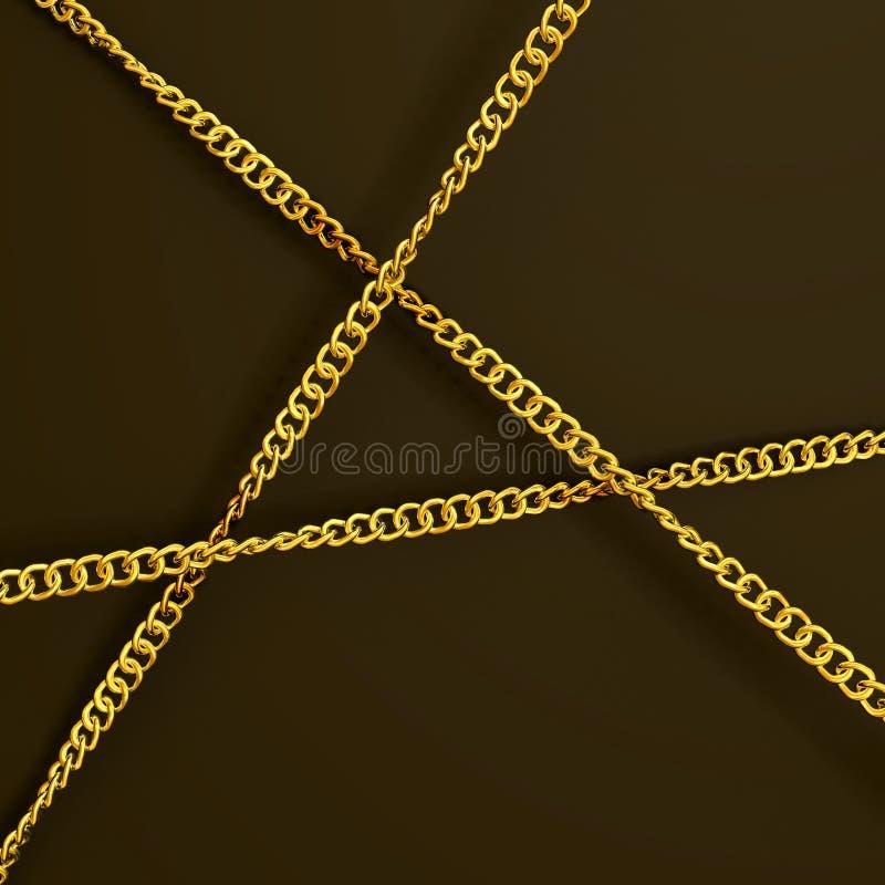 Tres encadenamientos de oro libre illustration
