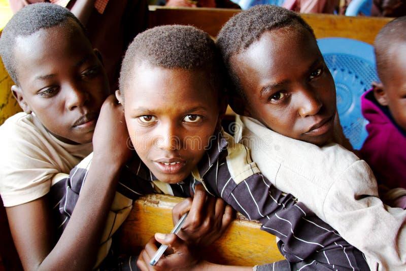 Tres escolares africanos imágenes de archivo libres de regalías
