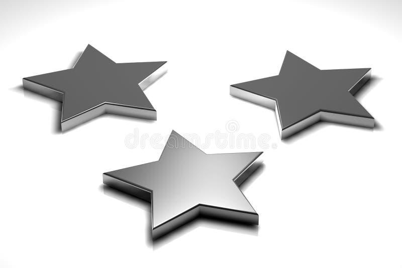 Tres estrellas stock de ilustración