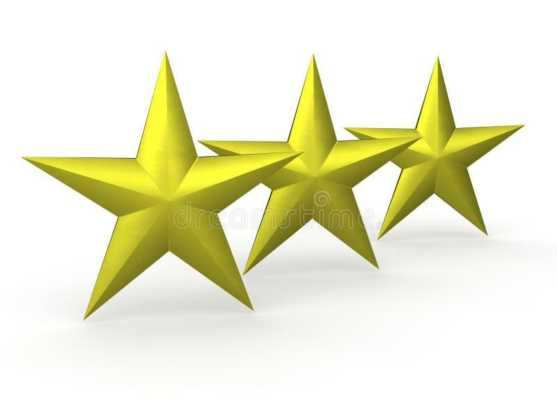 tres estrellas de tejas de oro stock de ilustraci n