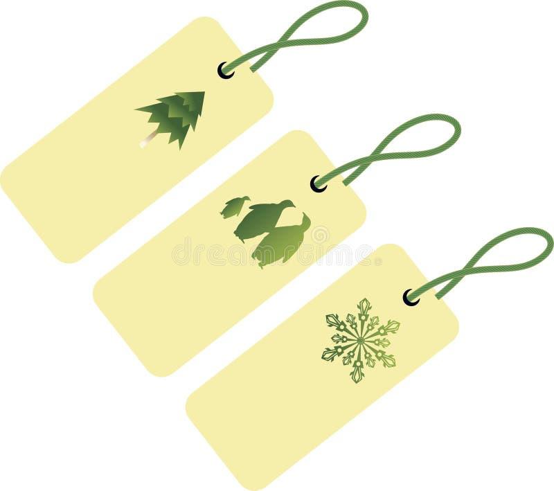 Tres etiquetas para la Navidad libre illustration