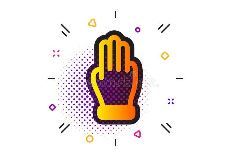 Tres fingeres dan el icono Muestra de la palma del tecleo Vector libre illustration