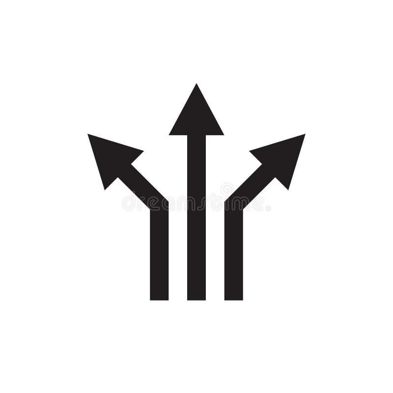 Tres flechas - ejemplo negro del vector del icono de la web Se?al de direcci?n Elemento del dise?o gr?fico libre illustration