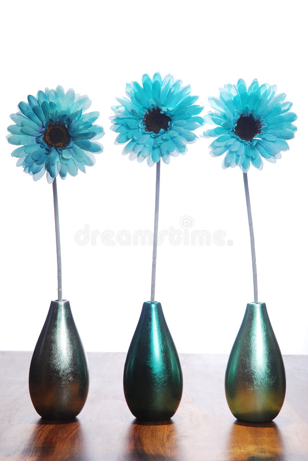 Tres flores azules imagenes de archivo