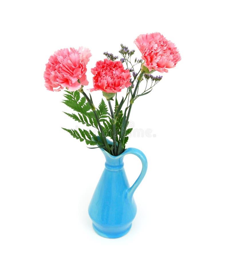 Tres flores del clavel imagenes de archivo