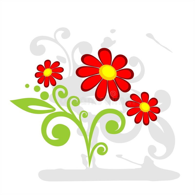 Tres flores rojas libre illustration