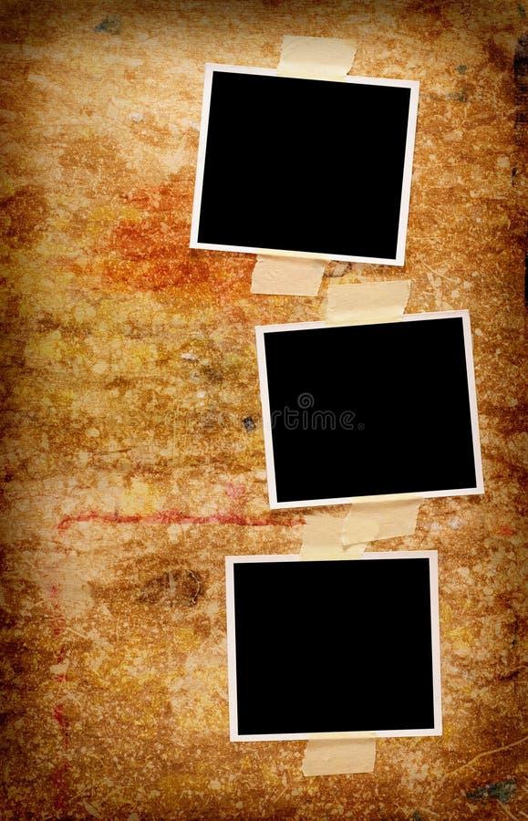 Tres fotos en blanco fotos de archivo libres de regalías