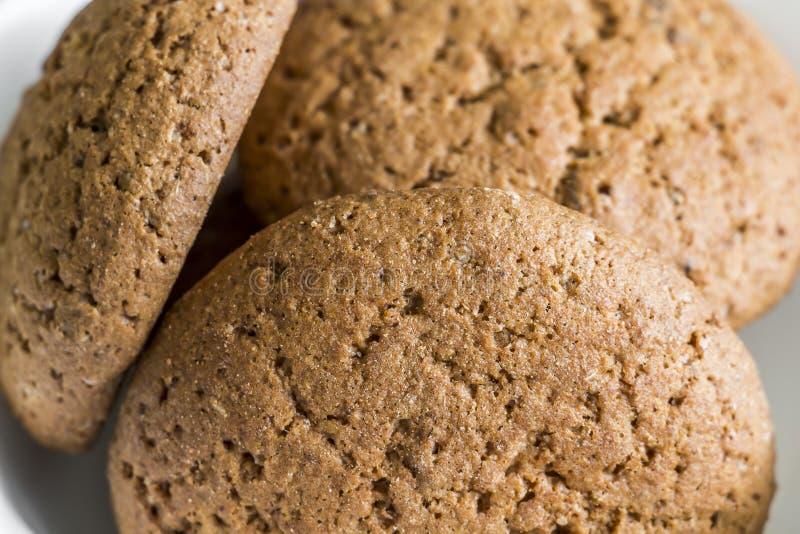 Tres galletas de harina de avena imagen de archivo