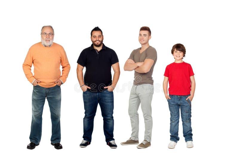 Tres generaciones de hombres foto de archivo