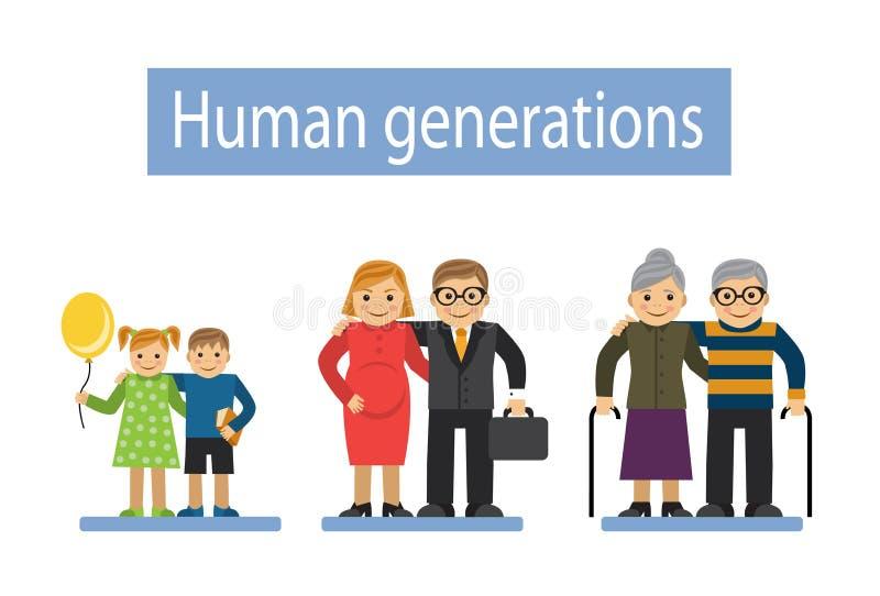 Tres generaciones de la familia libre illustration