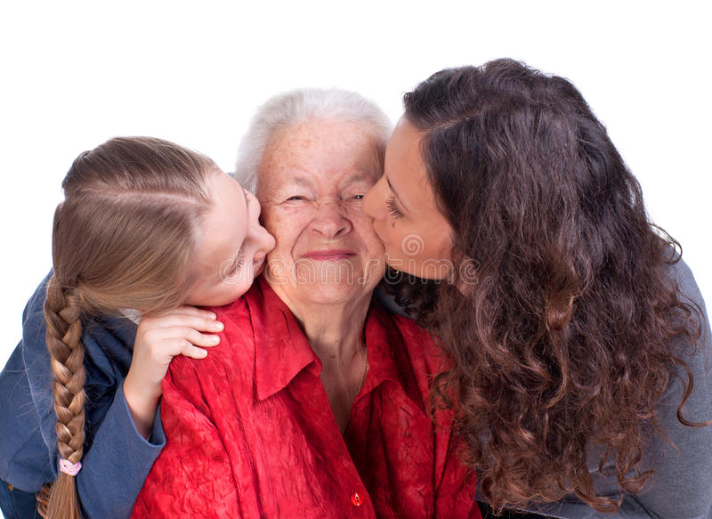 Tres generaciones de mujeres fotos de archivo libres de regalías